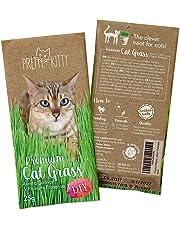PRETTY KITTY Premium Katzengras Samen, 25g Katzengras Saatmischung je Beutel für je ca. 10 Töpfe fertiges Katzengras
