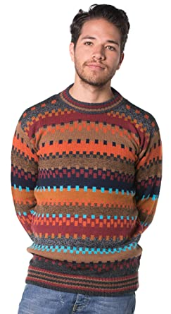 013b952f9a6836 Gamboa - 100% Alpaca Sweater - Premium Alpaca - Multicolored Earth Colors ,Small
