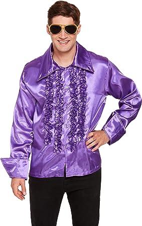 Henbrandt Disfraz Adulto Camisa Púrpura: Amazon.es: Juguetes y juegos