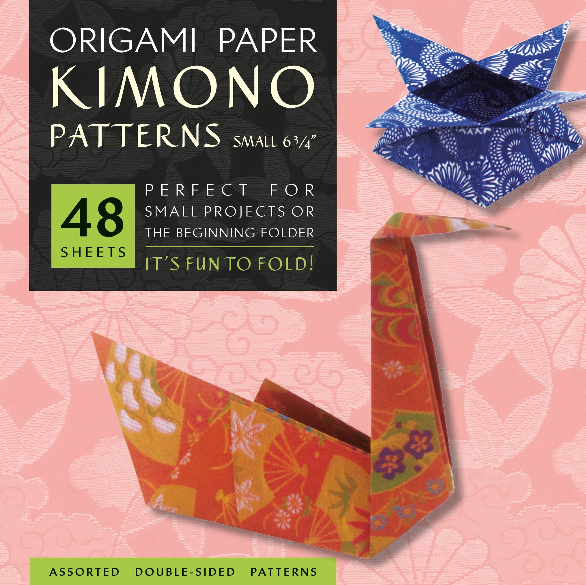 "Read Online Origami Paper - Kimono Patterns - Small 6 3/4"" - 48 Sheets: Tuttle Origami Paper: High-Quality Origami Sheets Printed with 8 Different Designs: Instructions for 6 Projects Included PDF"