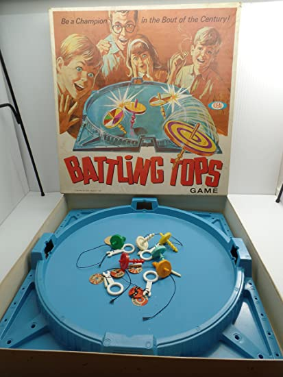 Amazon Com Battling Tops Game By Ideal Toys 1969 Toys Games