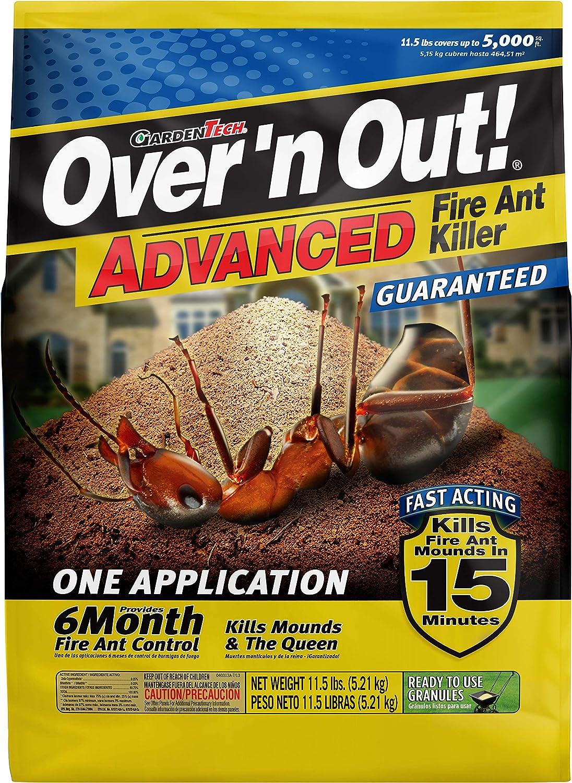 Amazon Com Over N Out 100515674 Advanced Fire Ant Killer Granules 11 5 Lbs Natural Lawn Garden Garden Outdoor