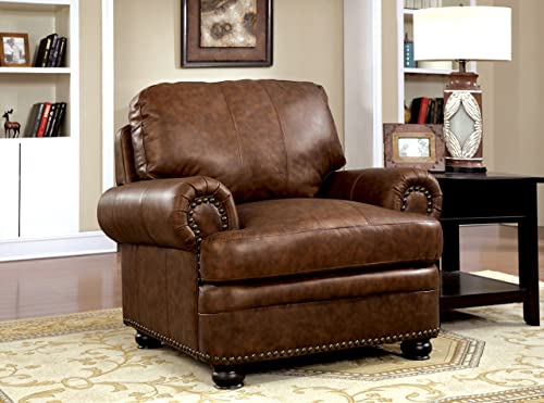 Furniture of America Edmunds Leatherette Arm Chair