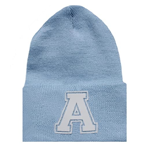 40d56ee4a001e Amazon.com  Melondipity s First Letter Initial Newborn Boy Blue Hospital Hat  (A)  Clothing