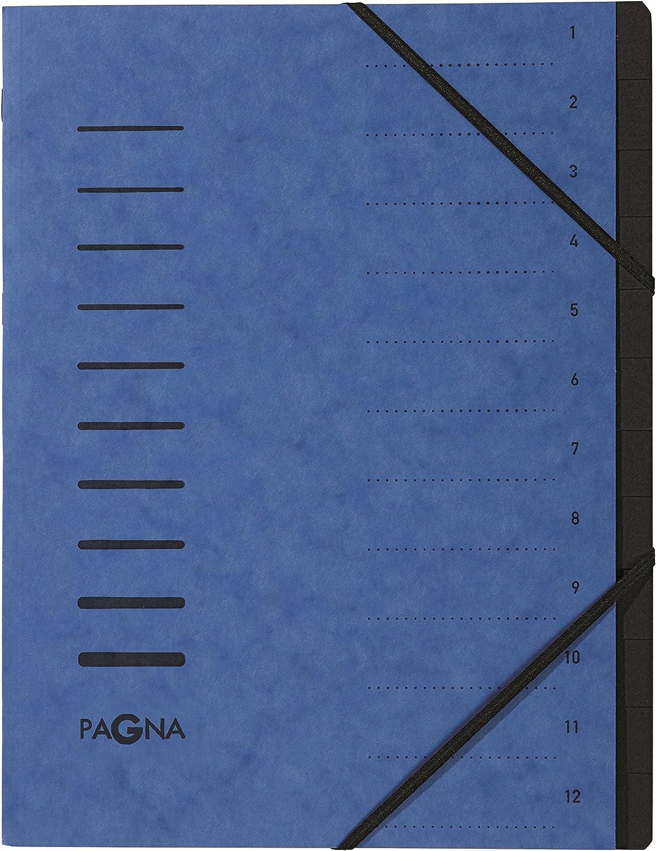 aubergine Pagna 40059-10 Ordnungsmappe 12 F/ächer