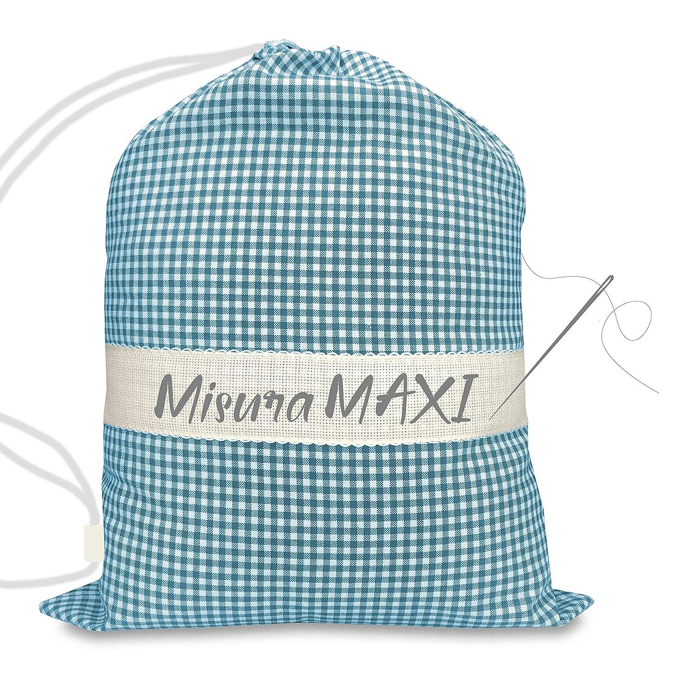 35x60 a Quadretti Tinto in Filo con Tela Aida per ricamare Il Nome Tex family Sacco Asilo Misura Grande Maxi cm