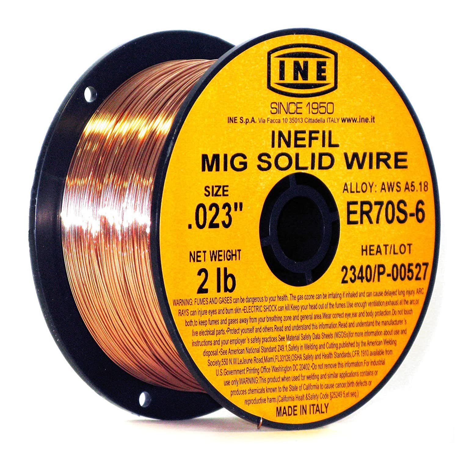 Inefil Er70s 6 023 Inch On 2 Pound Spool Carbon Steel Mig Solid Wiring Money From Usa To Italy Welding Wire Power Welders