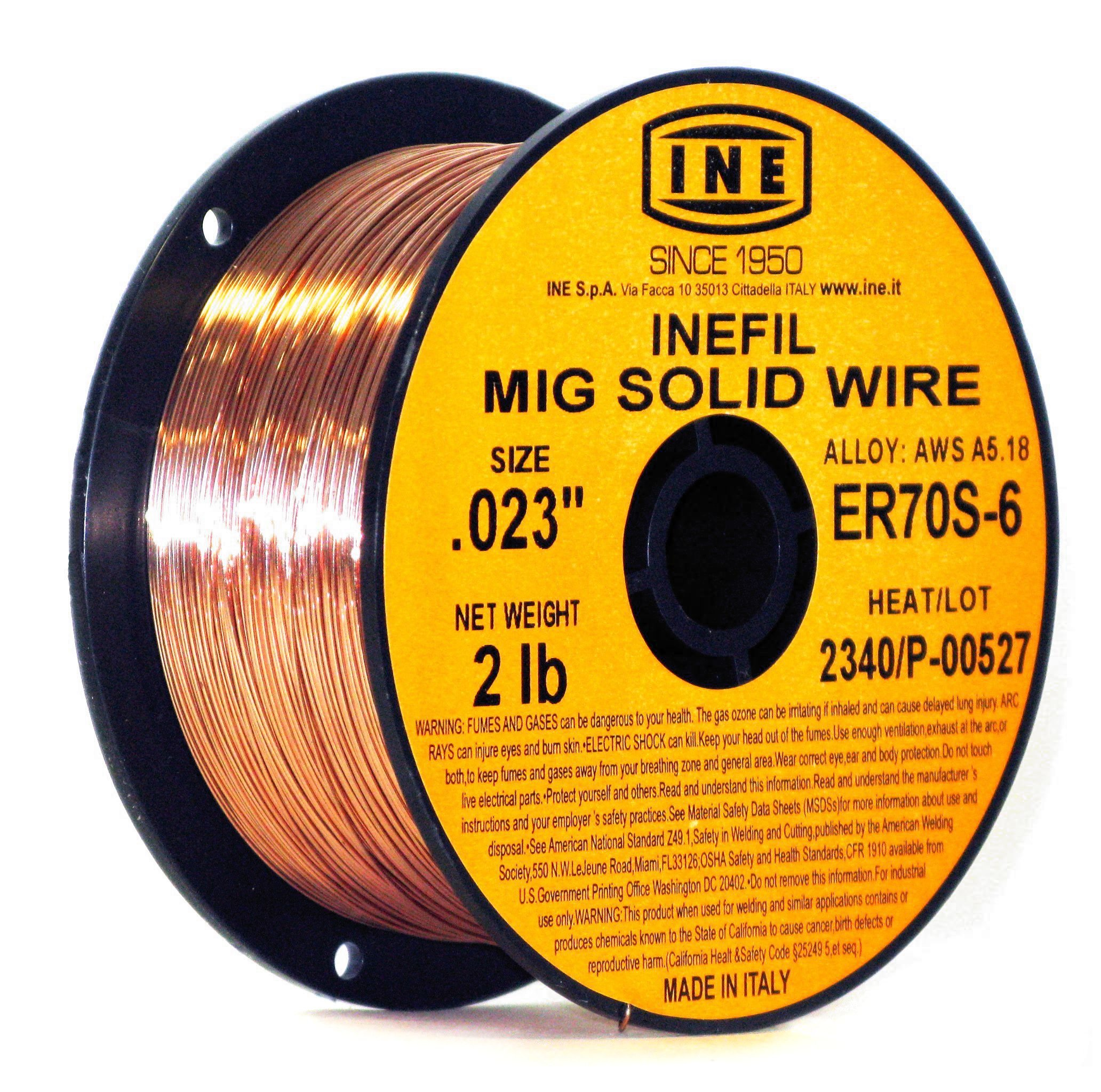 INEFIL ER70S-6 .023-Inch on 2-Pound Spool Carbon Steel Mig Solid Welding Wire