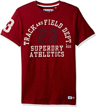 299a9b80 Superdry Men's Trackster Tee, Red Hook Grit, Medium | Amazon.com