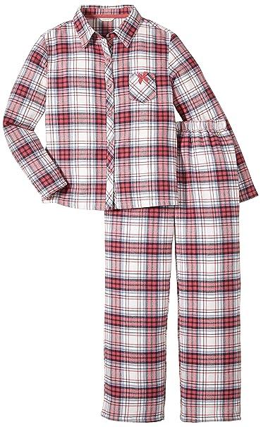 Esprit Rock Check - Pijama para niñas, color rot (oriental fuchsia 698),