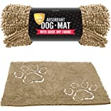 Tuff Pupper Dog Doormat   Ultra Absorbent   Durable for Dogs of All Breeds   Quick Drying Chenille Fabric   Designed for Indoor and Outdoor Use   Machine Washable