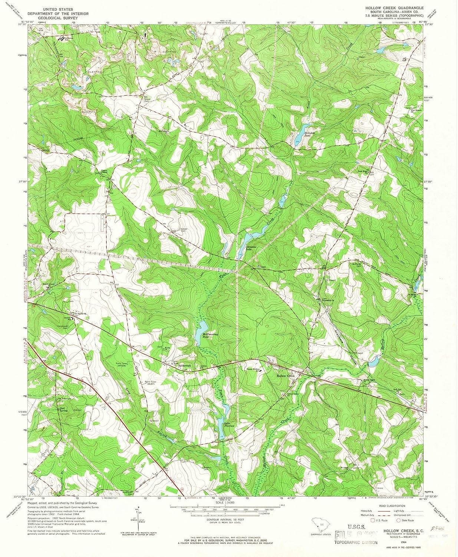 Amazon.com: South Carolina Maps - 1964 Hollow Creek, SC USGS ...