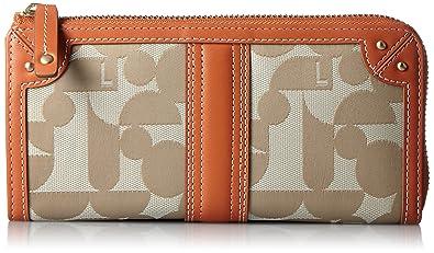 f352b71ede0a Amazon | [エル] 長財布 「シェリール2」外Lファスナー型長財布 5435609 オレンジ | ELLE(エル) | 財布