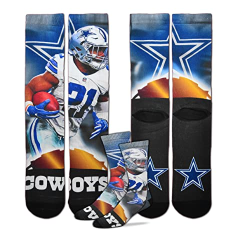 016bd9819 Image Unavailable. Image not available for. Color: Dallas Cowboys Ezekiel  Elliott City Star Socks