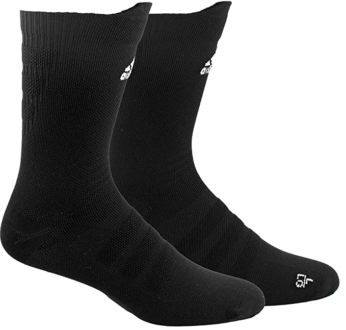 adidas Alphaskin Lightweight Cushioned Crew Socks (1-Pack)