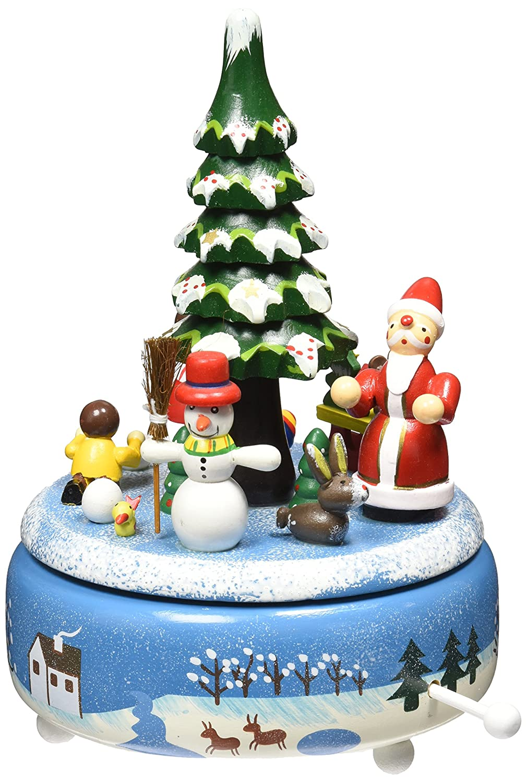 正規 B014L0XP1K MusicboxMusicbox Kingdom木製クリスマス音楽ボックスとサンタとクリスマスツリー B014L0XP1K, 琴平町:5e20200a --- arcego.dominiotemporario.com