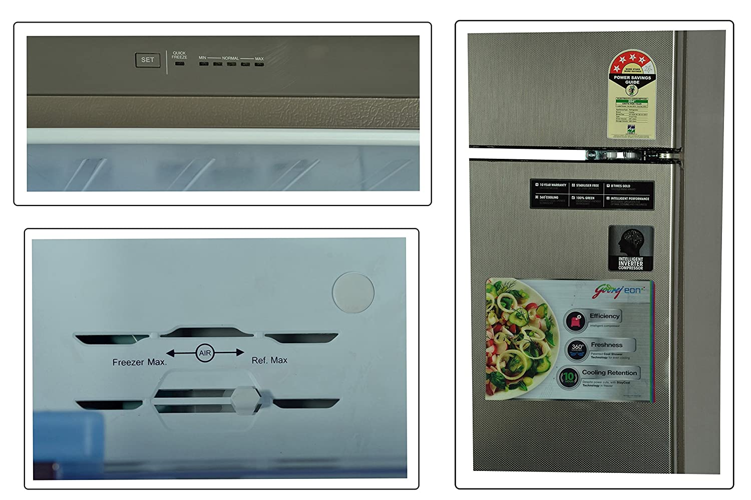 Godrej 261 L 4 Star Frost Free Double Door Refrigerator (RT Eon 261 SD 4.4,  Silver Atom): Amazon.in: Home U0026 Kitchen