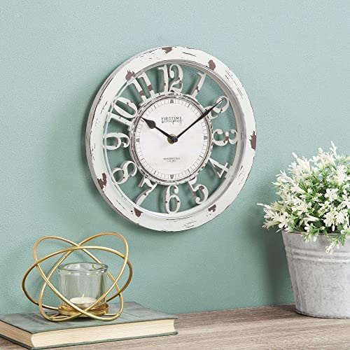 FirsTime Co. Antique Farmhouse Contour Wall Clock