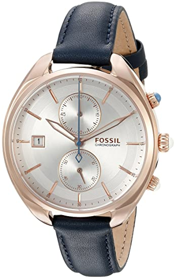 Fossil CH2997 Land Racer - Reloj cronógrafo para Mujer (Piel), Color Azul