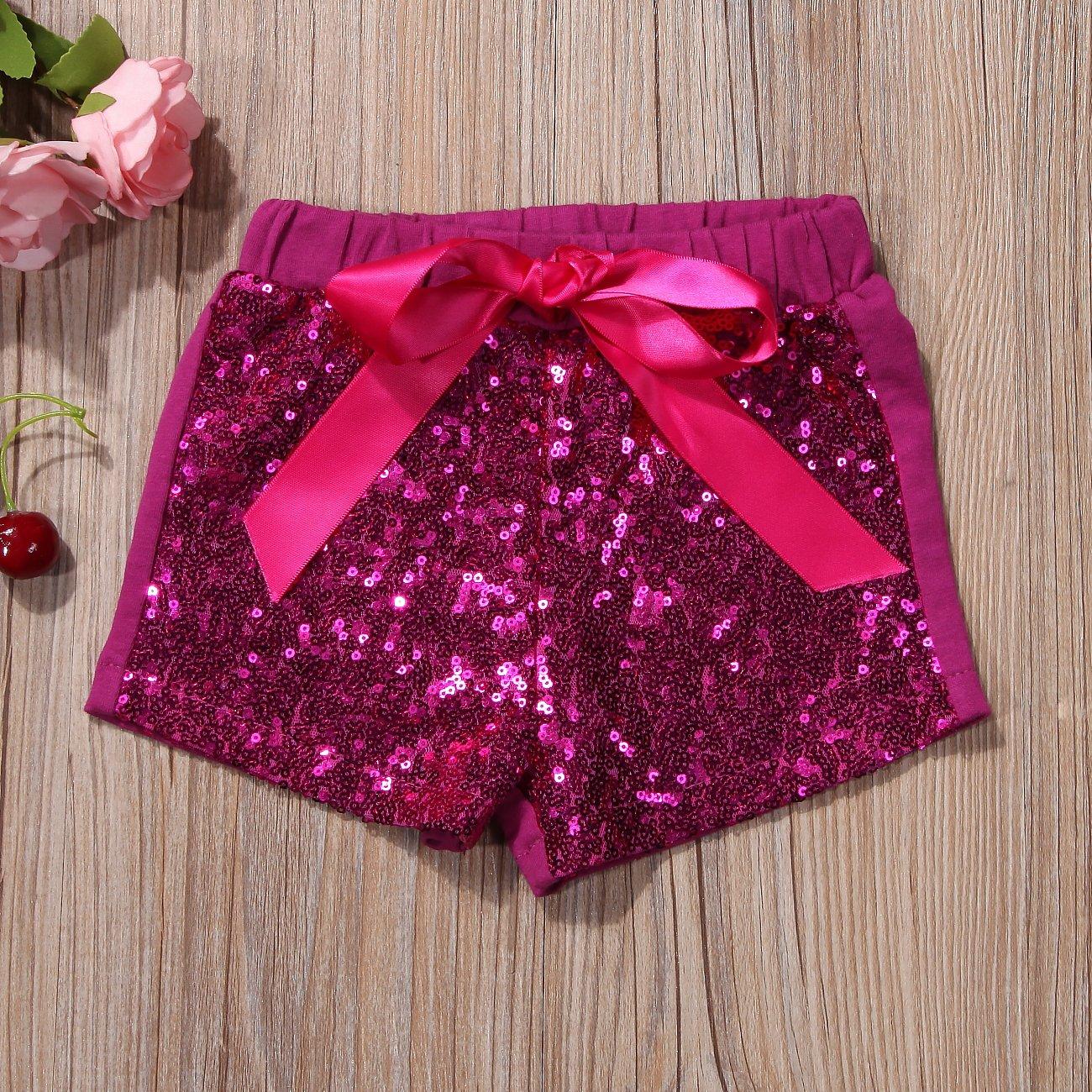 Gogoboi Bling Sequin Shorts for Kid Girls 1-5T