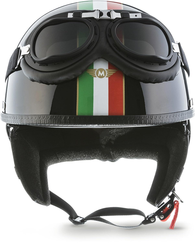 Moto Helmets D22/ /Casque de moto Vespa Bobber style vintage avec housse en plastique et lunettes de pilote incluses