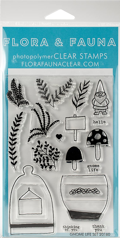 Flora & Fauna GNOME Life Clear Stamps, Gummi, Mehrfarbig, 19,68X 10,79X 0,08cm 20160