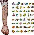 Oblique-Unique® Fische Tattoo Set 48 Stück Kindertattoos Tattoo verschiedene Motive Kinder Spielen
