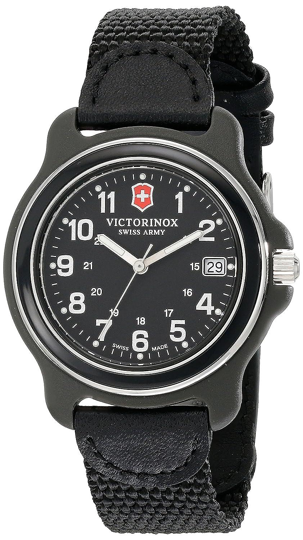Victorinox Herren-Armbanduhr 39mm Armband Nylon Schwarz GehÄuse Plastik Schweizer Quarz Analog 249090