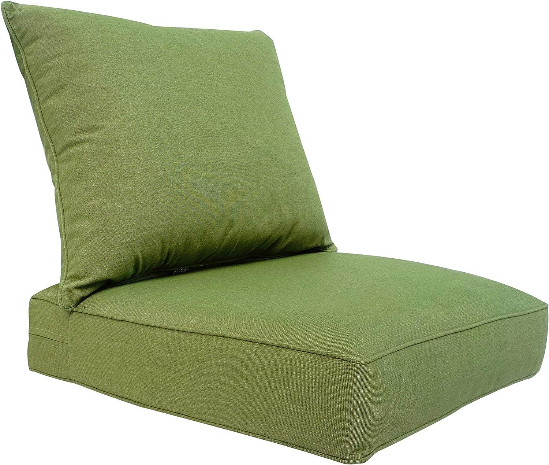 BOSSIMA Outdoor Patio Cushions Deep Seat Chair Cushions Sunbrella Furniture Cushions Grass Green
