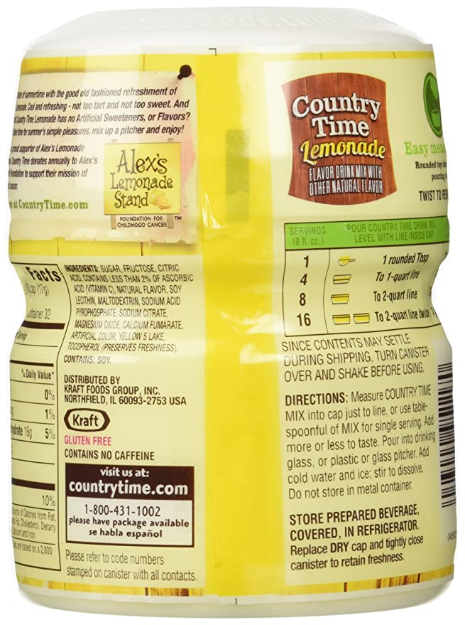 Country Time Lemonade Drink Mix With Other Natural Flavours 538g