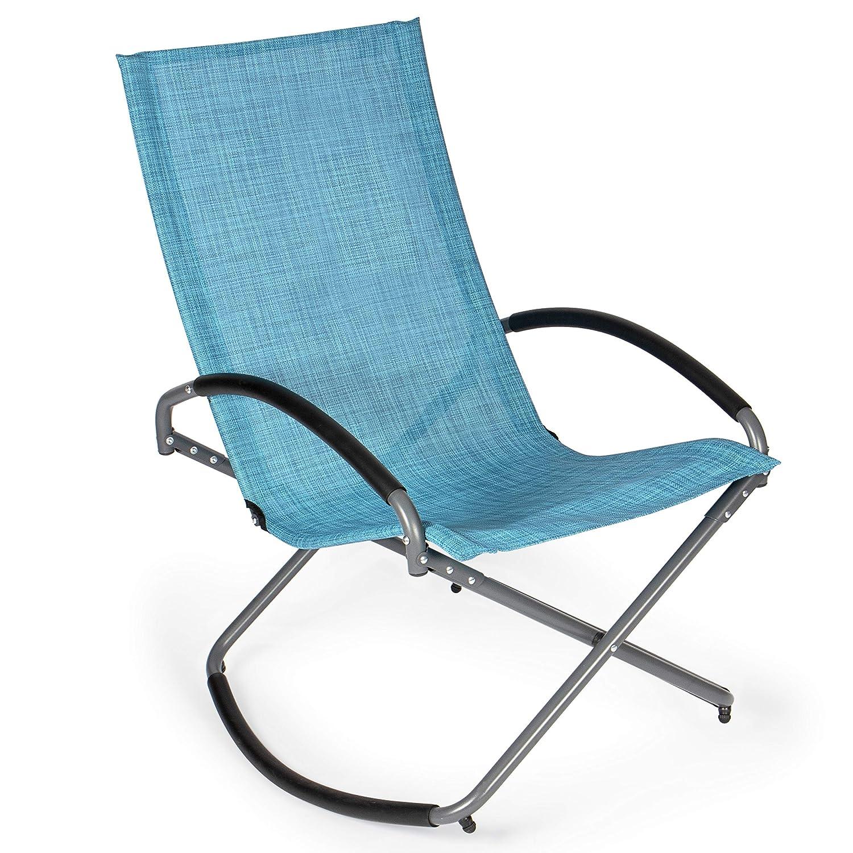 Park Alley PA-6880 Silla Mecedora Textil, Azul mélange: Amazon.es ...
