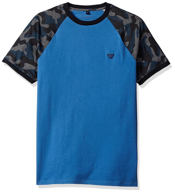 937747fe76 Amazon.com: ARMANI JEANS Men's Slim Fit Pima Cotton Camouflage T ...