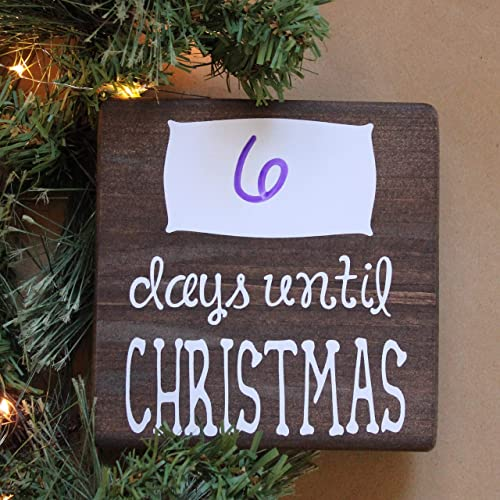 Until Christmas.Amazon Com Dry Erase Days Until Christmas Small Rustic