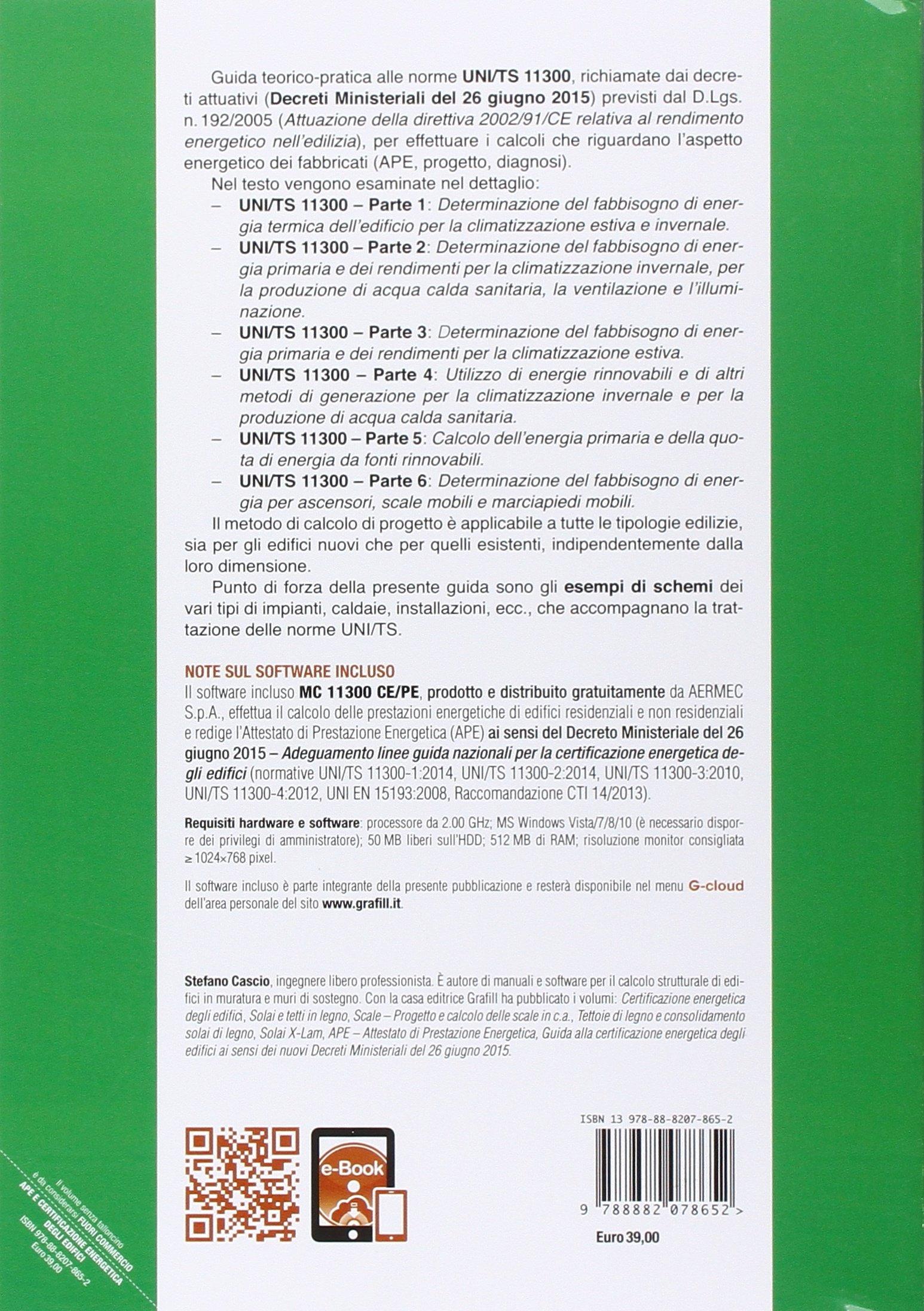Amazon.it: APE e certificazione energetica degli edifici. Con Contenuto  digitale per download e accesso on line - Stefano Cascio - Libri