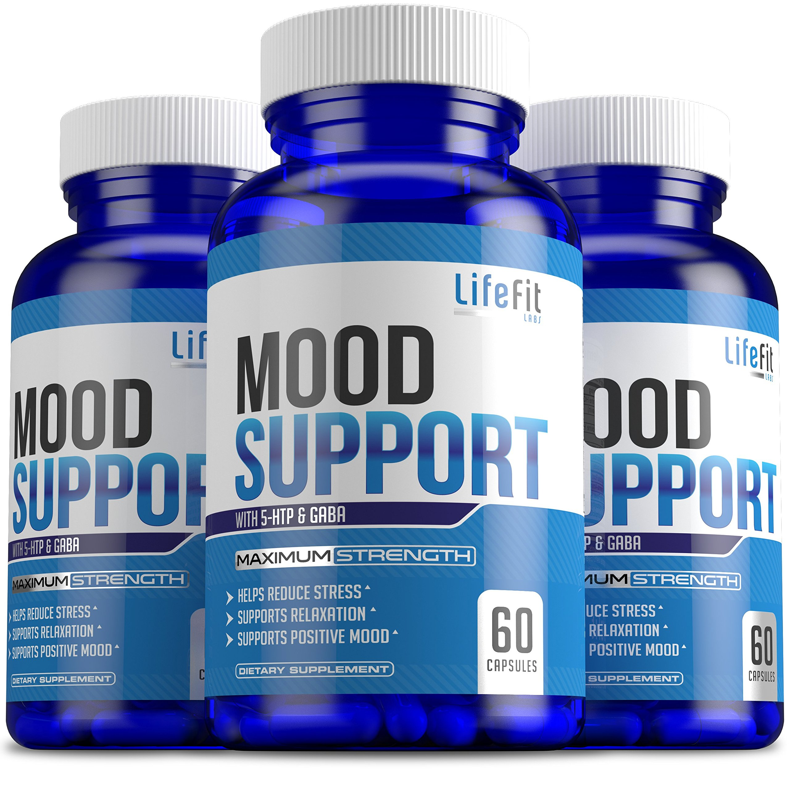 Mood Builder - Premium Mood Support Supplement   Superior Efficiency Natural Stress Relief   Vegan Dietary Herbal Calming Capsules for Men & Women   Boosts Relaxation & Overall Well being