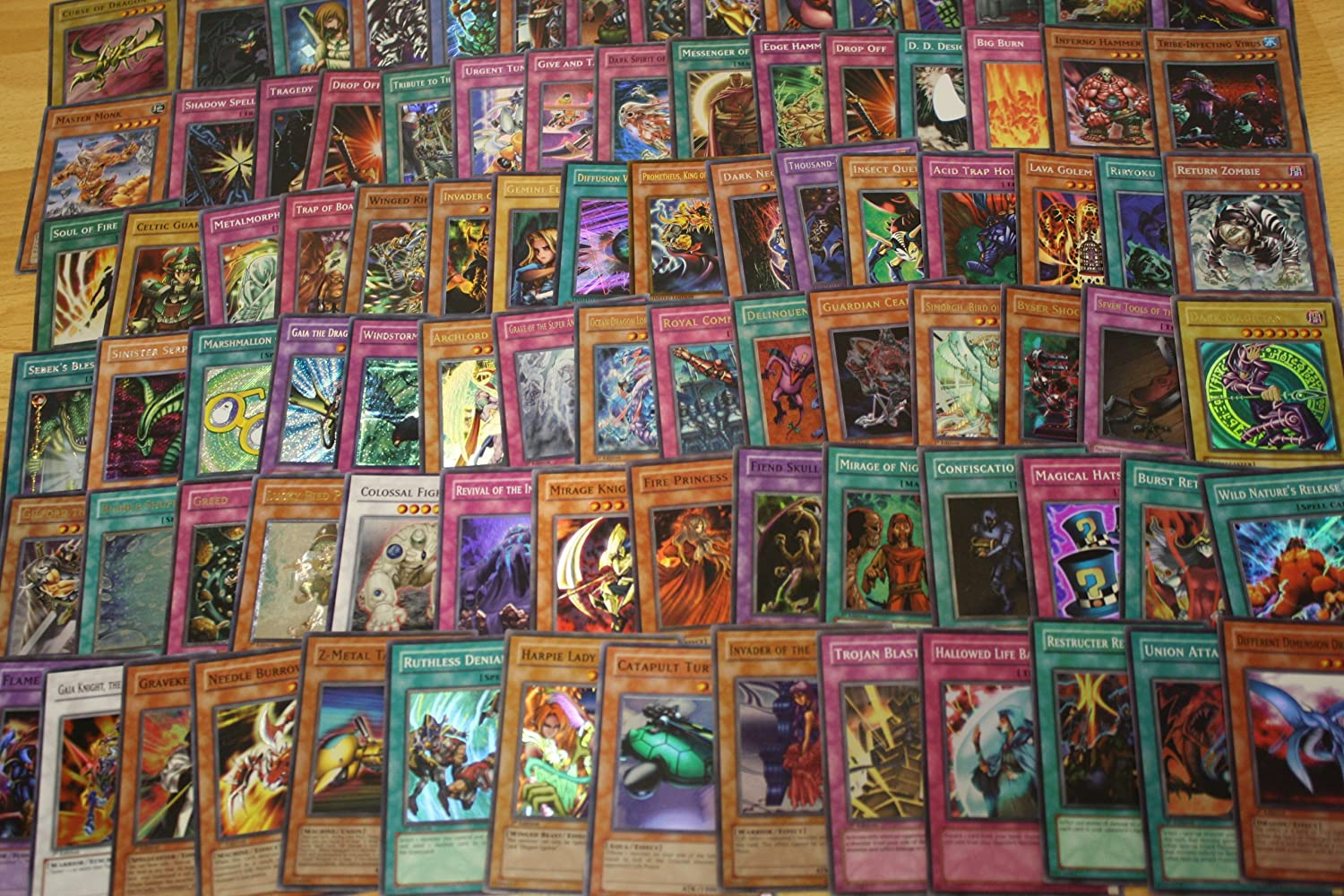 amazon com 400 premium yugioh trading card lot with 11 holos and