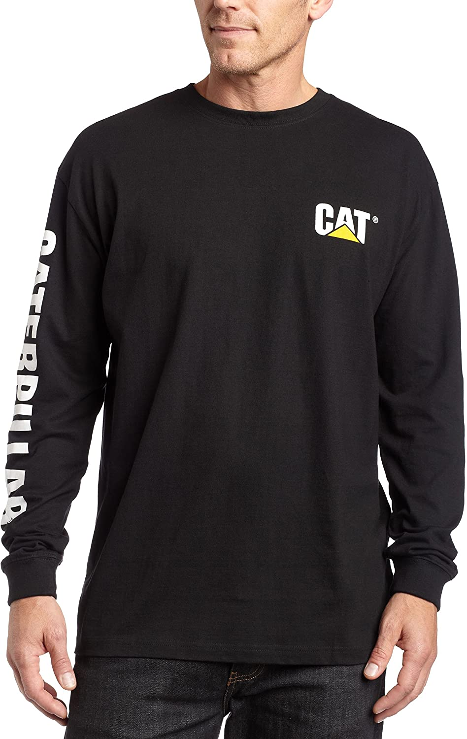 Caterpillar Men's Trademark Banner Long Sleeve T-Shirt (Regular and Big & Tall Sizes)