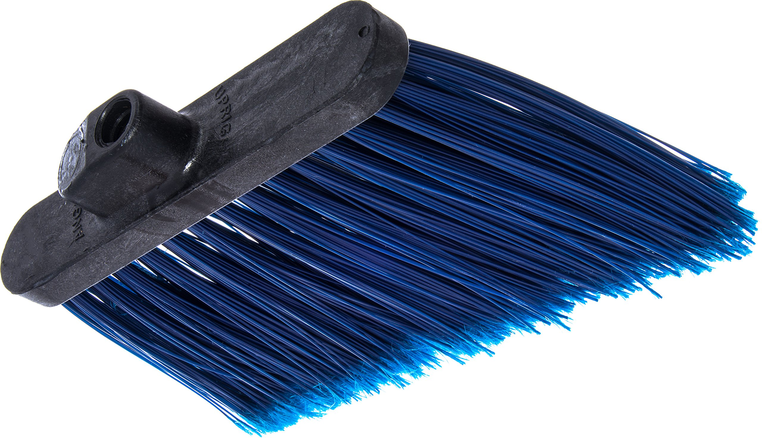 Carlisle 3686714 Duo-Sweep Medium Duty Flagged Angle Broom Head, Polypropylene Bristle, 8'' Overall Length x 12'' Width, Blue (Pack of 12) by Carlisle (Image #3)