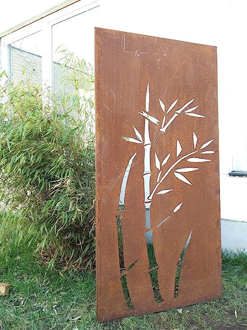 Jardín Para Valla de metal oxidado Jardín Valla Jardín Decoración edelrost para ventana pared 031344 – 1 150 * 75 * 2 cm: Amazon.es: Jardín