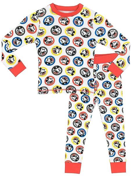 Disney Mickey Mouse - Pijama para Niños - Mickey Mouse - Ajuste Ceñido - 5 a