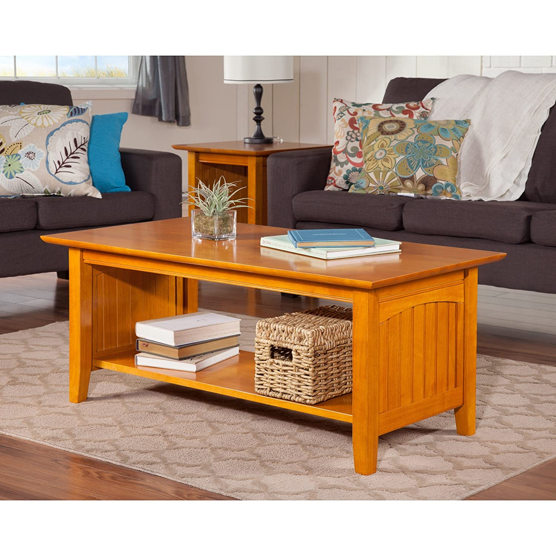 Nantucket Coffee Table.Amazon Com Atlantic Furniture Nantucket Caramel Latte Wood Coffee