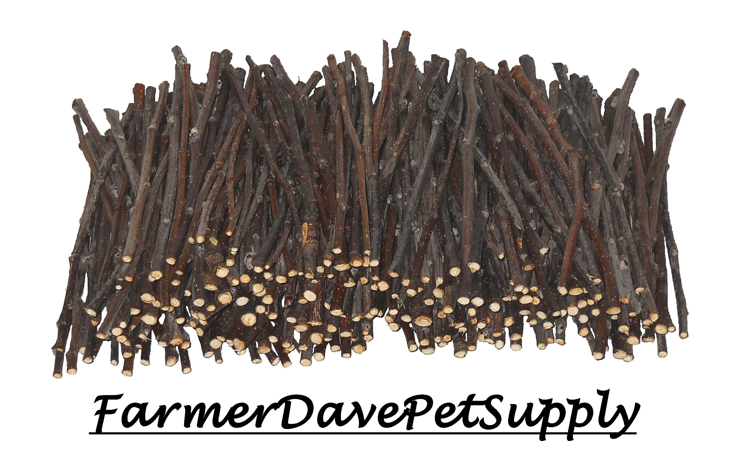 FarmerDavePetSupply 250 Apple Skinny Twig Chews for Rabbits, Guinea Pigs, Chinchillas and Other Small Animals by FarmerDavePetSupply