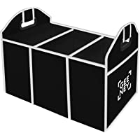 2 In 1 Car Boot Organiser Shopping Tidy Heavy Duty Collapsible Foldable Storage, Car Boot Bag, Auto Car Storage Organiser, Foldable Storage Boot Organiser Box, Trunk Organizer, Folding Car Organiser, Collapsible Shopping Travel Holder For Car, SUV, Minivan, Truck & Indoor Uses-Durable, Light Weight Design