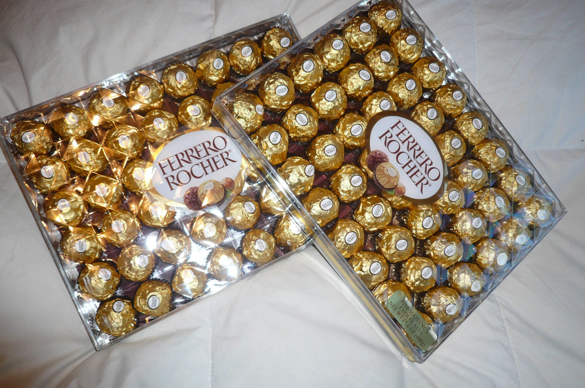 Ferrero Rocher Party Size Hazelnut Chocolate 21 oz 48 count (Pack of 2)