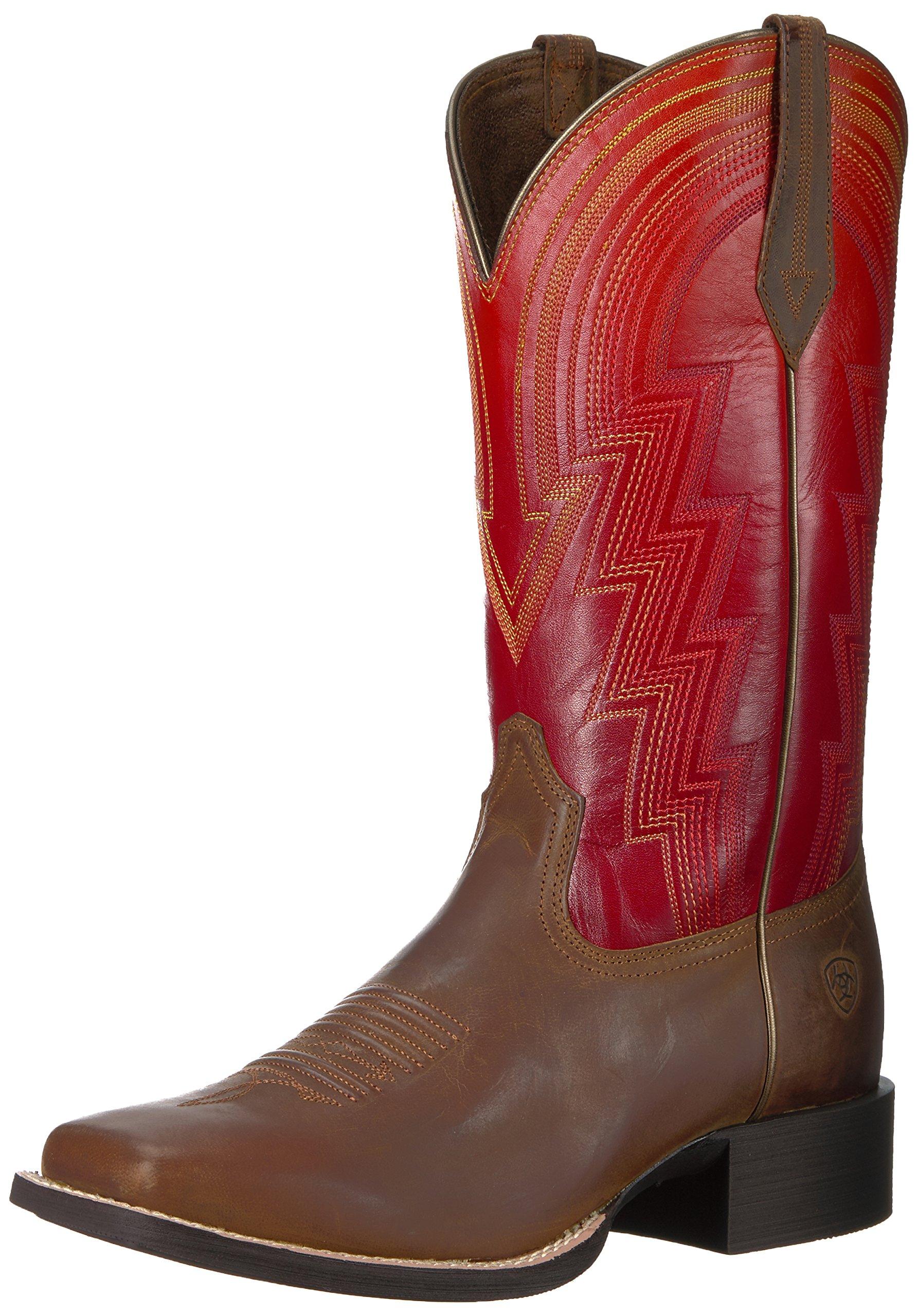 Ariat Women's Round up Waylon Work Boot, Rodeo Tan, 7.5 B US