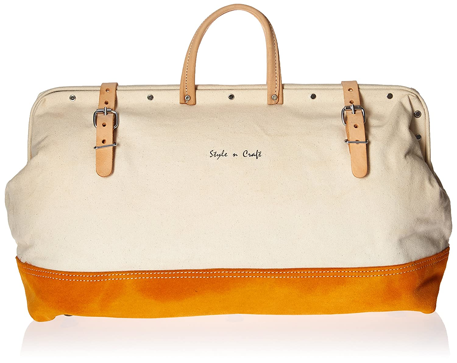Style n Craft 97516 20 Mason's Tool Bag in Canvas Suede Leather Combination