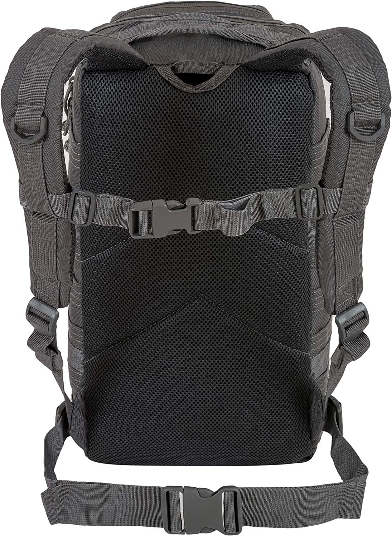 Le sac de jour Recon 28L imperm/éable avec de nombreuses attaches MOLLE pour d/'autres accessoires et /équipements Gris Sac /à dos tactique d/'assaut militaire Highlander