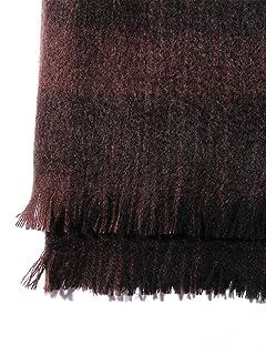 Cashmere Ombre Check Scarf 1436-699-1740: Black