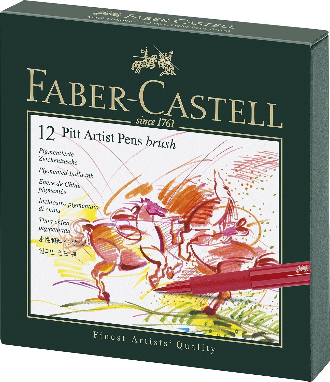 Faber Castell Estuche estudio con rotuladores Pitt punta de pincel multicolor