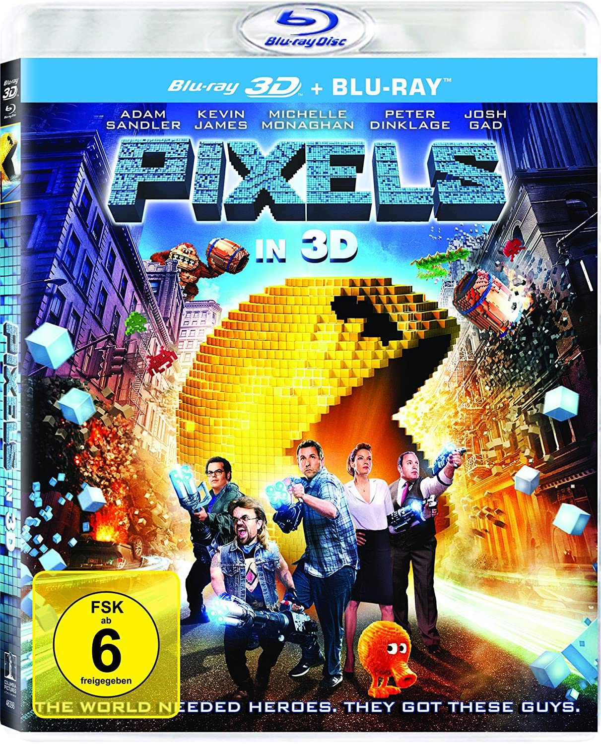 Pixels (3D Version (2 Disc) ) [3D Blu-ray]: Amazon.de: Adam Sandler ...